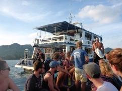 Arriving - Dive Boat