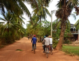 On the Way to Phnom Chhngok Cave Temple