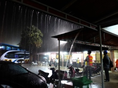 Rain Storm at the Bus Station