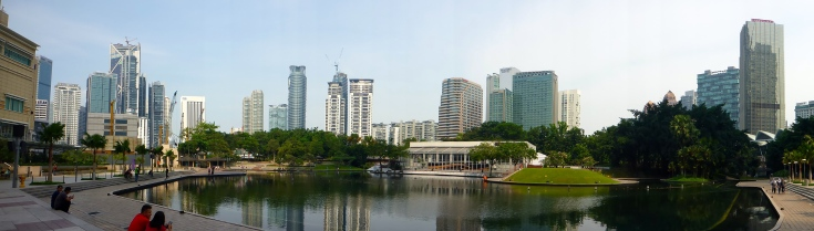 Outside KLCC, Kuala Lumpur