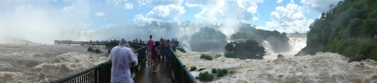 One of the Platforms From the Brazil Side of the Falls