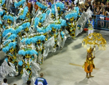Hundreds of Costumed Dancers Between Each Float