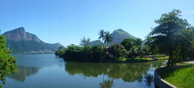 Rodrigo de Freitas Lagoon - Christ the Redeemer on the Hill in the Background
