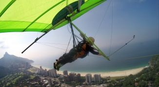 Hang Gliding Over Sao Conrado Beach