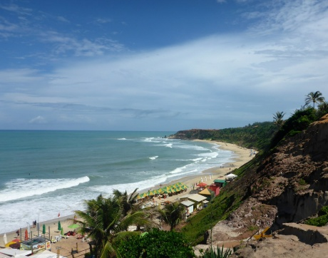 View of Praia do Amor, One of Pipa's Many Beaches