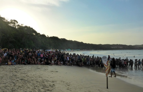 Just a Couple People at the Sea Turtle Release