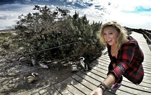 Super Excited Penguin Selfie
