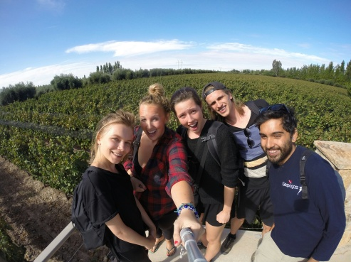 Vineyard Selfie with the Crew